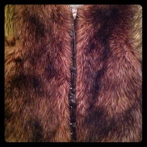 BB Dakota Faux Fur & Leather Vest